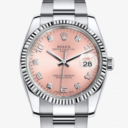 a buon mercato Rolex Date Rosa con diamanti M115234-0009