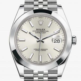 a buon mercato Rolex Datejust Argentato M126300-0004