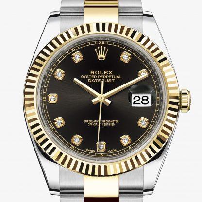a buon mercato Rolex Datejust Nero con diamanti M126333-0005