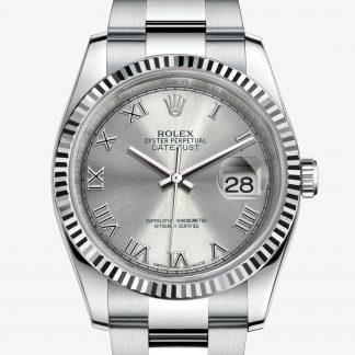 a buon mercato Rolex Datejust Rhodium M116234-0092