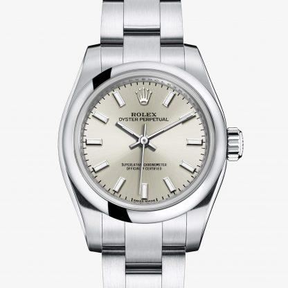 a buon mercato Rolex Oyster Perpetual Argentato M176200-0015