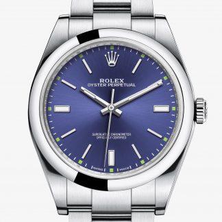 a buon mercato Rolex Oyster Perpetual Blu M114300-0003