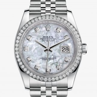 copia Rolex Datejust Madreperla bianca con diamanti M116244-0011