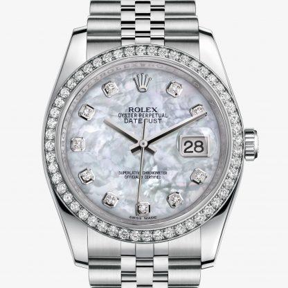 copia Rolex Datejust Madreperla bianca con diamanti M116244-0011