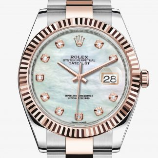 copia Rolex Datejust Madreperla bianca con diamanti M126331-0013