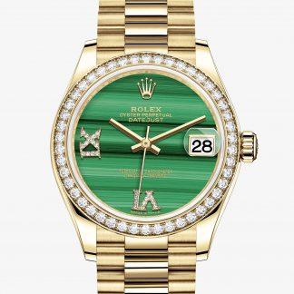 copia Rolex Datejust Malachite con diamanti M278288RBR-0004