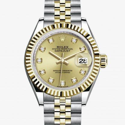 copia Rolex Lady-Datejust Color champagne con diamanti M279173-0011
