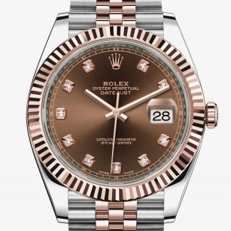 falso Rolex Datejust Chocolate con diamanti M126331-0004