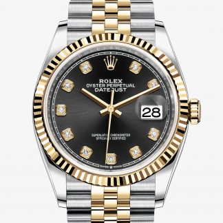 falso Rolex Datejust Nero con diamanti M126233-0021