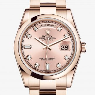 falso Rolex Day-Date Rosa con diamanti M118205F-0061