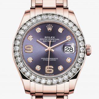 falso Rolex Pearlmaster Aubergine con diamanti M86285-0004