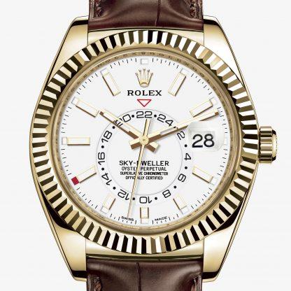 falso Rolex Sky-Dweller Bianco M326138-0010