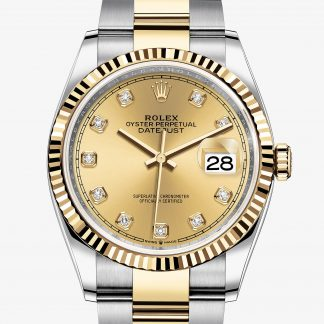 lusso Rolex Datejust Color champagne con diamanti M126233-0018