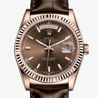 lusso Rolex Day-Date Chocolate M118135-0003