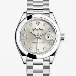 lusso Rolex Lady-Datejust Argentato con diamanti M279166-0001
