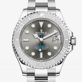 lusso Rolex Yacht-Master Rhodium scuro M268622-0002