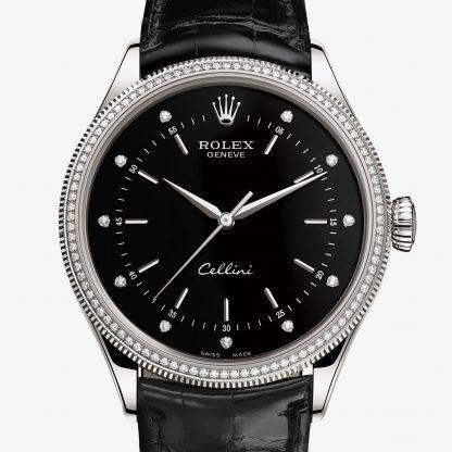 migliore Rolex Cellini Nero con diamanti M50609RBR-0007