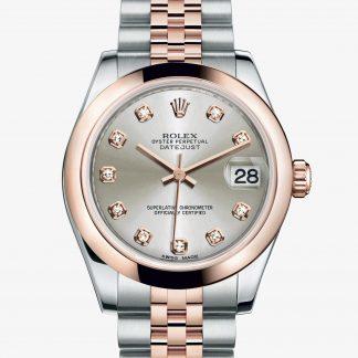 migliore Rolex Datejust Argentato con diamanti M178241-0046