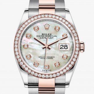migliore Rolex Datejust Madreperla bianca con diamanti M126281RBR-0010