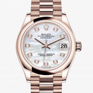 migliore Rolex Datejust Madreperla bianca con diamanti M278245-0014
