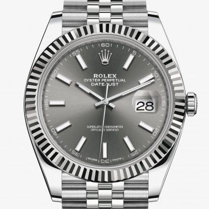 migliore Rolex Datejust Rhodium scuro M126334-0014