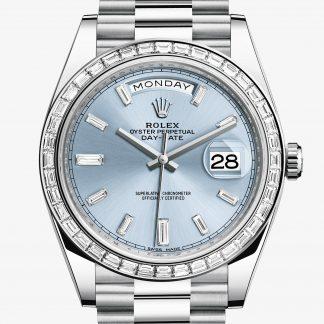 migliore Rolex Day-Date Blu ghiaccio con diamanti M228396TBR-0002