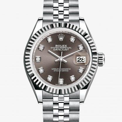 migliore Rolex Lady-Datejust Dark grey con diamanti M279174-0015