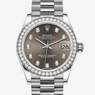 moda Rolex Datejust Dark grey con diamanti M278289RBR-0006