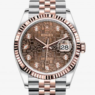 moda Rolex Datejust Decoro Jubilé chocolate con diamanti M126231-0025