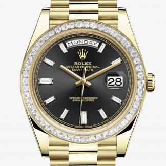 moda Rolex Day-Date Nero con diamanti M228398TBR-0001
