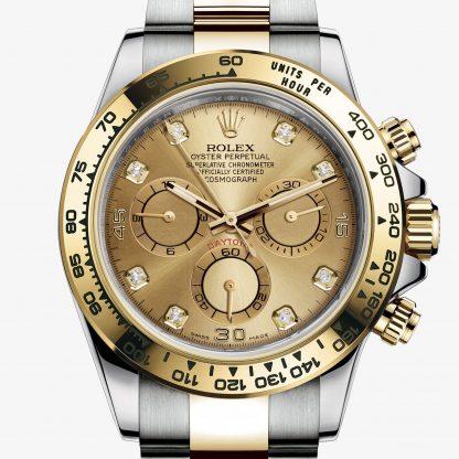 moda Rolex Daytona Color champagne con diamanti M116503-0006