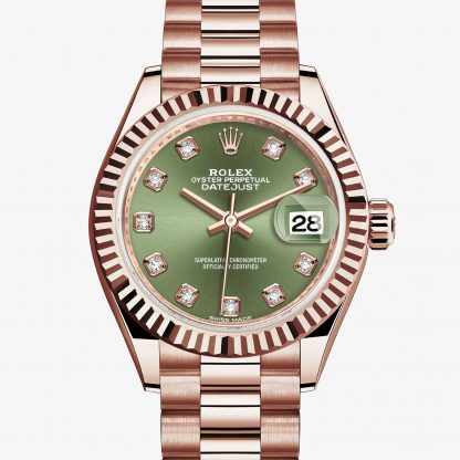 moda Rolex Lady-Datejust Verde oliva con diamanti M279175-0009