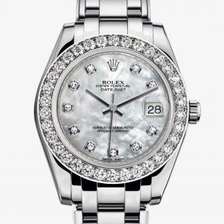 moda Rolex Pearlmaster Madreperla bianca con diamanti M81299-0014