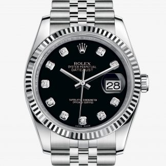 replica Rolex Datejust Nero con diamanti M116234-0083