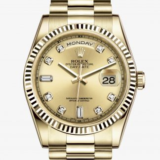 replica Rolex Day-Date Color champagne con diamanti M118238-0116