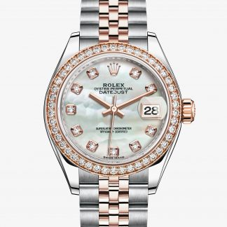replica Rolex Lady-Datejust Madreperla bianca con diamanti M279381RBR-0013