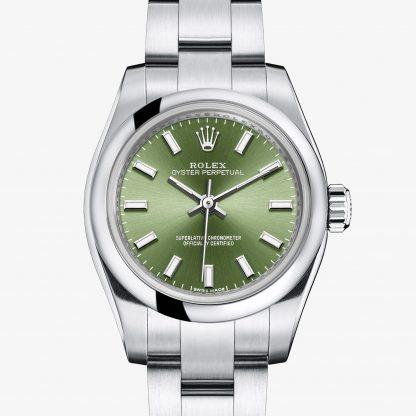 replica Rolex Oyster Perpetual Verde oliva M176200-0014