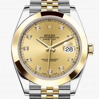 repliche Rolex Datejust Color champagne con diamanti M126303-0012