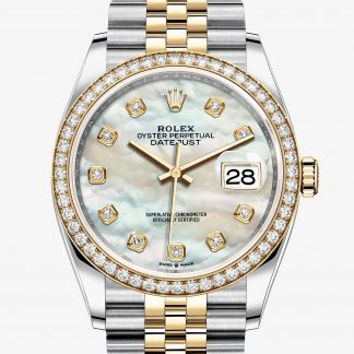 repliche Rolex Datejust Madreperla bianca con diamanti M126283RBR-0009