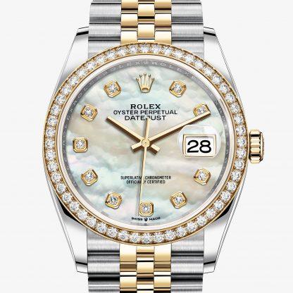 repliche Rolex Datejust Madreperla bianca con diamanti M126283RBR-0009