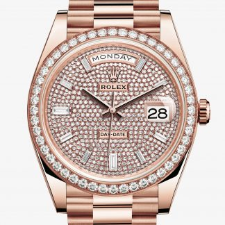 repliche Rolex Day-Date Pavé di diamanti M228345RBR-0002