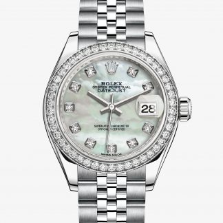 repliche Rolex Lady-Datejust Madreperla bianca con diamanti M279384RBR-0011