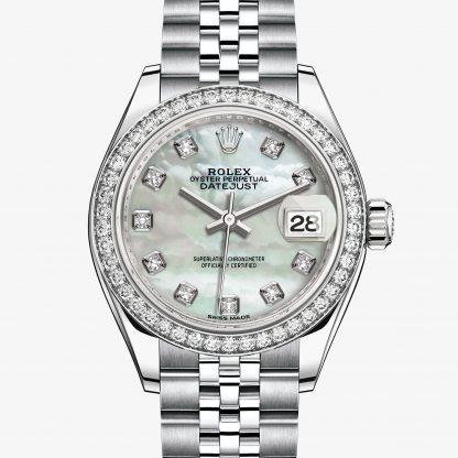 repliche Rolex Lady-Datejust Madreperla bianca con diamanti M279384RBR-0011