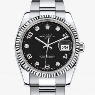 saldi Rolex Date Nero con diamanti M115234-0011
