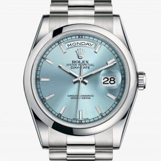 saldi Rolex Day-Date Blu ghiaccio M118206-0040