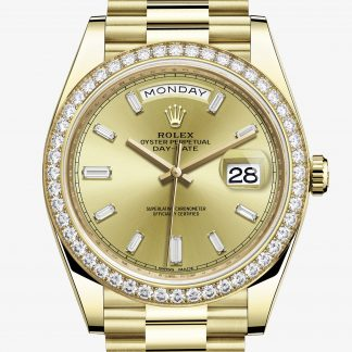saldi Rolex Day-Date Color champagne con diamanti M228348RBR-0002