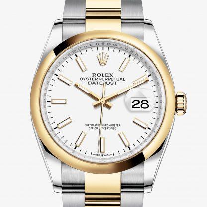 scontato Rolex Datejust Bianco M126203-0020
