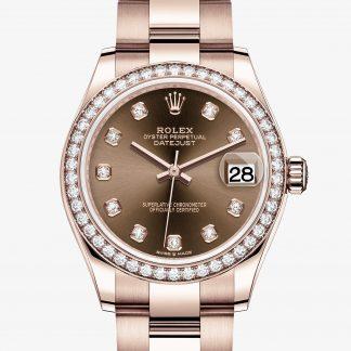 scontato Rolex Datejust Chocolate con diamanti M278285RBR-0012