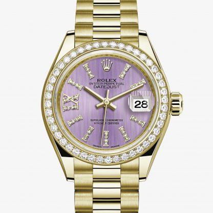 scontato Rolex Lady-Datejust Lilla con diamanti M279138RBR-0010