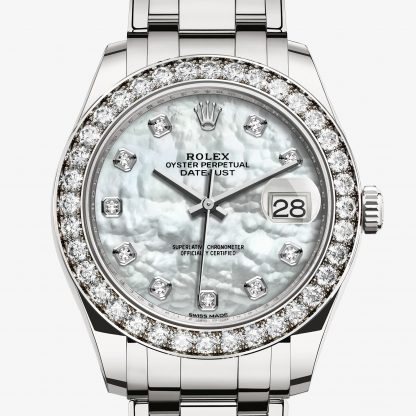 scontato Rolex Pearlmaster Madreperla bianca con diamanti M86289-0001